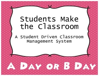 Classroom Management - Beginning of the Year Activity