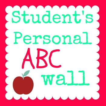 Student's Personal ABC Wall