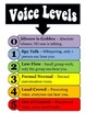Student's Rights and Voice Levels Posters