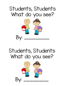 Students, Students What do you see? {back to school emerge