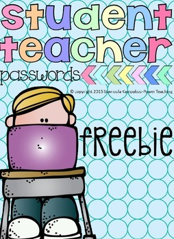 Students-Teachers Passwords Sheets Freebie