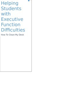 Students with Executive Function Difficulties: How to Clea