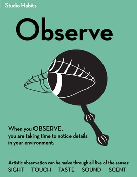 Studio Habits Poster: Observe