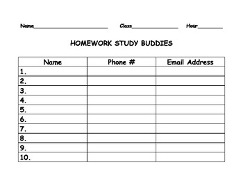 Study Buddy Organizer