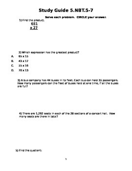 Study Guide 5.NBT.5-7