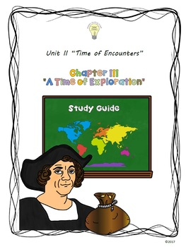 Study Guide 5th Gr S. Studies Chapter 3 A Time of Explorat