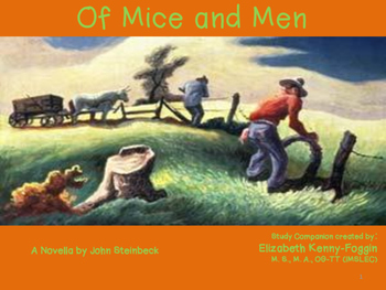 Study Guide:  Of Mice and Men