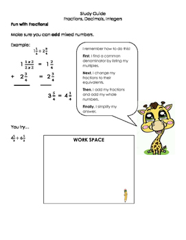 Study Guide for Common Core Number Systems