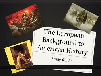 Study Guide to Unit I in American History