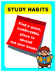Classroom Decoration Study Habits Poster