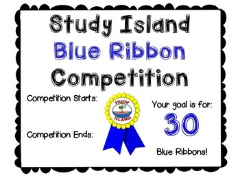 Study Island Blue Ribbon Class Competition {FREE}