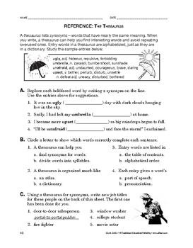 Study Skills: Reference: The Thesaurus