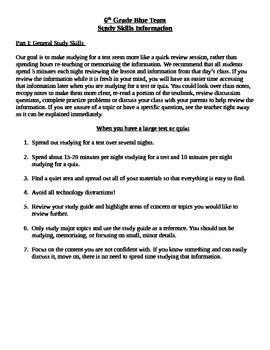 Study Skills - Social Studies and General
