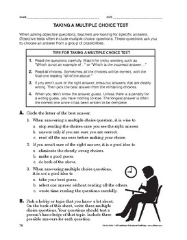 Study Skills: Taking a Multiple Choice Test