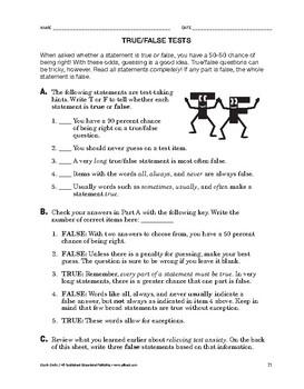 Study Skills: True/False Tests