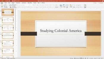 Studying Colonial America PowerPoint Lesson