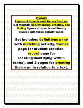 Figurative Language and Literary Devices:  Define, Identif