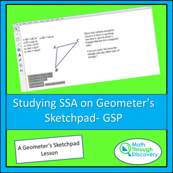 Studying SSA on Geometer's Sketchpad- GSP