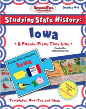Studying State History: IOWA-- A Puzzle-Piece Time Line by