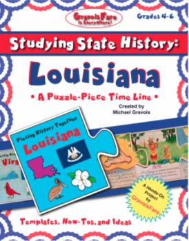 Studying State History: LOUISIANA-- A Puzzle-Piece Time Li