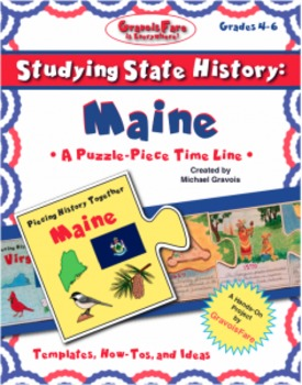 Studying State History: MAINE-- A Puzzle-Piece Time Line b