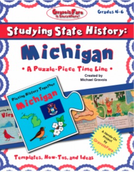 Studying State History: MICHIGAN-- A Puzzle-Piece Time Lin