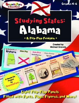 Studying States: Alabama—A Flip-Flap Foldable Filled with