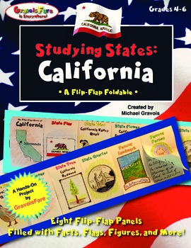 Studying States: California—A Flip-Flap Foldable Filled wi