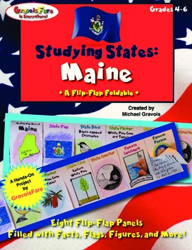 Studying States: Maine—A Flip-Flap Foldable Filled with Fa