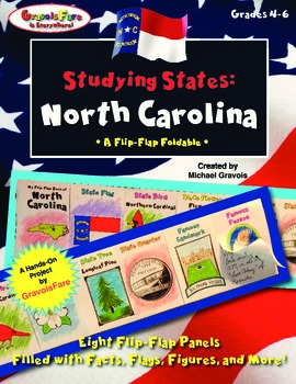 Studying States: North Carolina—A Flip-Flap Foldable Fille