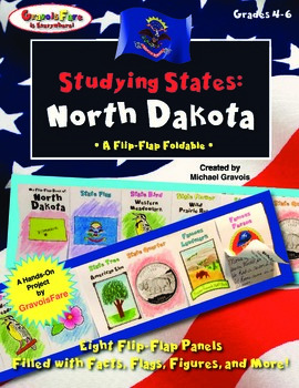 Studying States: North Dakota—A Flip-Flap Foldable Filled