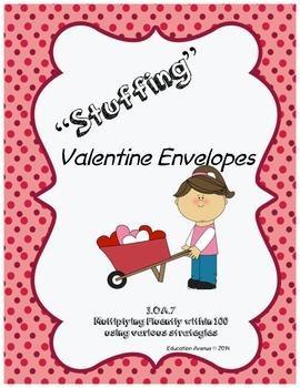 """Stuffing"" Valentines 3.OA.7"