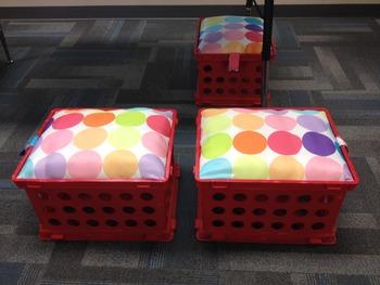 Sturdy milk crate seates