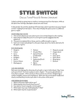 Style Switch: Tone/Mood Literature Review