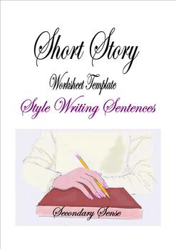 Style Writing Sentences Worksheet