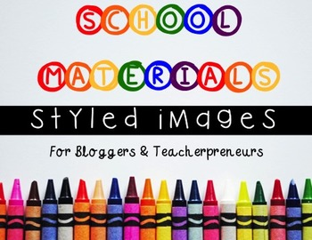 Styled Images: School Supplies for Personal and Commercial Use
