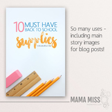Styled Images for Bloggers & Teachers - Pencils