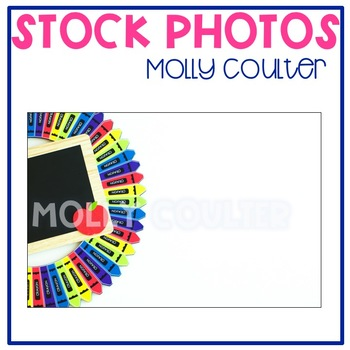 Stock Photo: Classroom Crayon Wreath & Chalkboard #1-Perso