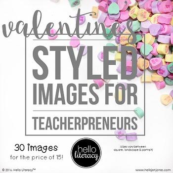 Styled Images for Teacherpreneurs: Valentine's Day (Person