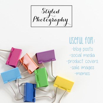Styled Photography: Office Supplies - Rainbow  set 1 (Comm