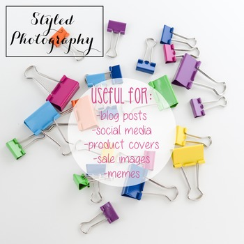 Styled Photography: Office Supplies - Rainbow  set 2 (Comm