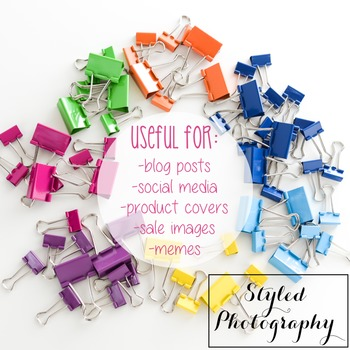 Styled Photography: Office Supplies - Rainbow  set 3 (Comm