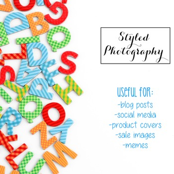 Styled Photography: Phonics BUNDLE 1 (Comm Use OK)