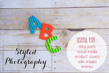 Styled Photography: Phonics set 14 (Comm Use OK)