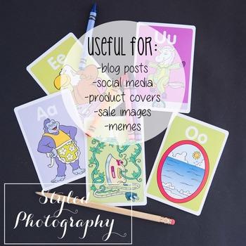 Styled Photography: Phonics set 5 (Comm Use OK)