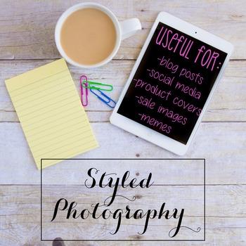 Styled Photography: iPad/Computer Set 2 (Comm Use OK)