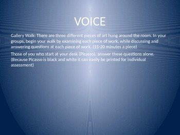 Stylistic Analysis: Voice