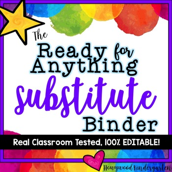 Sub Binder & Plans!  Totally Editable & Amazingly Detailed!