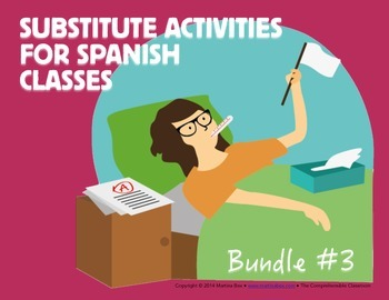 Spanish Substitute Activities Bundle #3: Storyboards for L