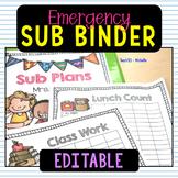 Sub Plans Teacher Binder